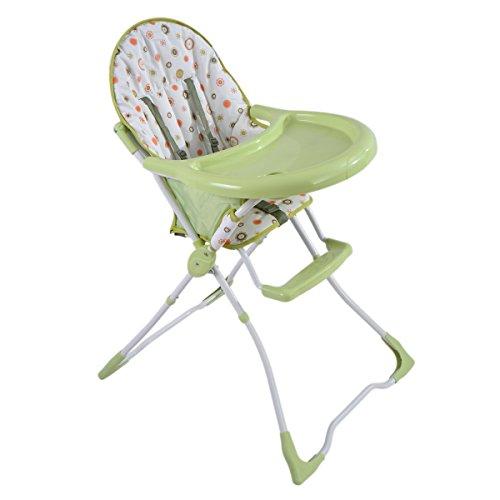 COSTWAY Hochstuhl Kinderhochstuhl Babyhochstuhl Treppenhochstuhl Hochsitz klappbar & Farbwahl (Grün)