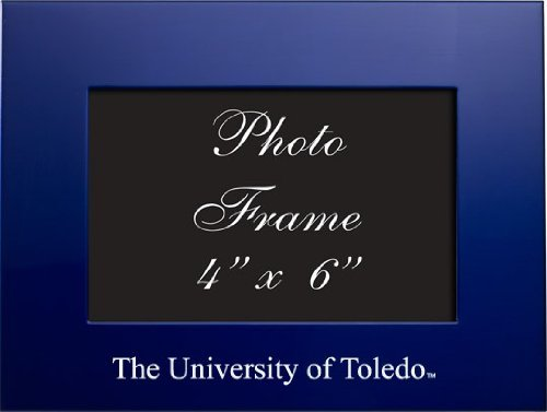 University of Toledo - 4x6 Brushed Metal Picture Frame - Blue by LXG, Inc.