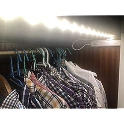 (LA) 1x metro de Luz LED con sensor de movimiento para Armario, pasillo o cama. Sin enchufes!
