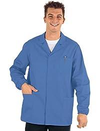 Isacco médico-Chaqueta de Deporte para Hombre Manga Larga, Color Azul