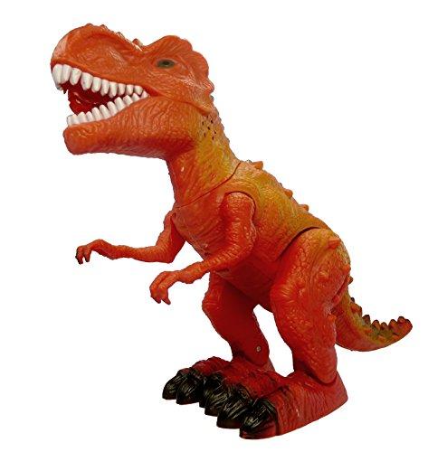 CT Elektronisches Spielzeug Dinosaurier mit Licht, Sound- und Gehfunktion (Tyrannosaurus Rot)