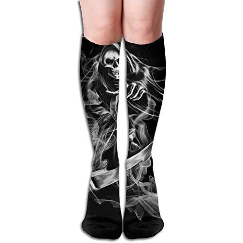 YYERINX Unisex Knee High Long Socks Smoking Ghost Picture Over Calf Casual Sport Stocking Cotton (Smoking Socks)