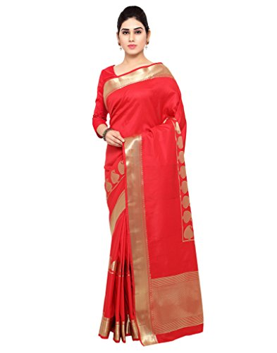 Varkala Silk Sarees Women's Art Silk Paithani Saree With Blouse Piece(JB5007RDRD_Bright Red_Free Size)
