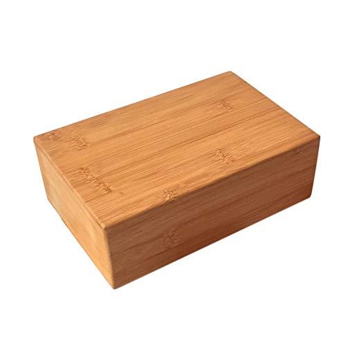 Sponsi Bamboo Yoga Block - 1 Stück Handstand Block aus natürlichem Bambus zur Unterstützung tiefer Posen - Verbesserung der Stärke Hilfe Balance Flexibilität - Blöcke Natürliche