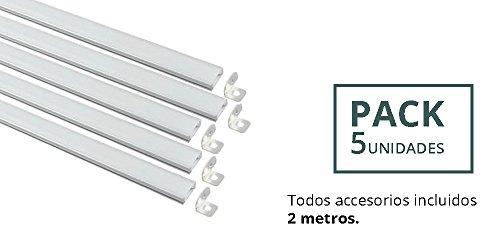 PACK 5 UNIDADES. Perfil Aluminio con forma de