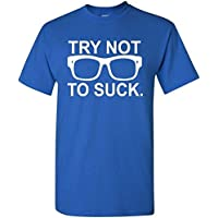 Non Cercare di succhiare maglietta Chicago Cubs maglietta Occhiali Joe Maddon maglietta, Blue, M
