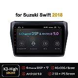 Autoradio Android 8.1 A 8 Core con 9 Pollici per Suzuki Swift 2018 con Navigatore GPS Stereo Bluetooth Mirror Link Full Touch Screen, Riproduzione Video 4K, 64 Bit 32 GB Rom 4G RAM