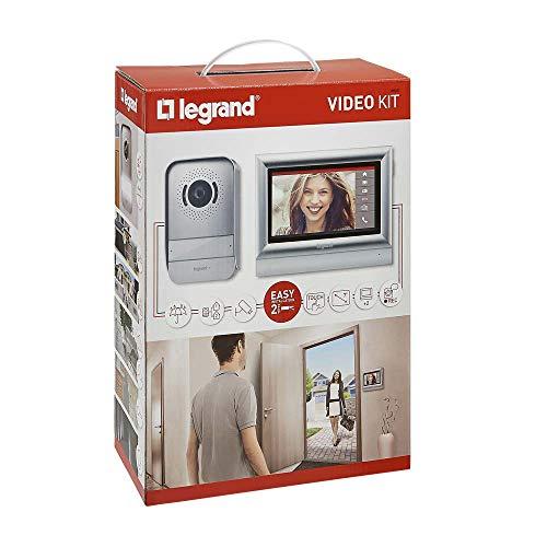 Legrand, Video-Türsprechanlage mit 2-Draht-Anschluss, 7 Zoll Farb-Touchscreen und Weitwinkelkamera, 1-/2-Familienhaus-Set, 369320 7-farb-video