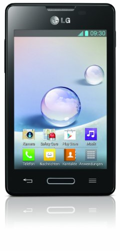LG E440 Optimus L4 II Smartphone (9,6 cm (3,8 Zoll) Display, 3 Megapixel Kamera, WiFi, Android 4.1) schwarz (Smartphone Lg 3g)