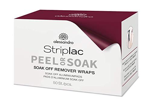 Alessandro Striplac Soak Off Remover Wraps, 50 pezzi