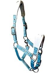 JF de hípica de nailon cabestro cubierto, Azul Claro, Pony, aha de 05–07–02