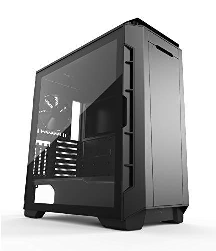 Phanteks Eclipse P600S Hybrid Silent and Performance ATX Chassis - Gehärtetes Glas, Gewebefilter, Dual System Support, Massive Storage, PWM Hub, Schalldämpfende Panels, schwarz -