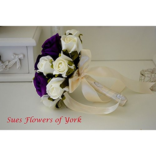 wedding-flowers-small-bridesmaid-bouquet-in-cadburys-purple-and-ivory