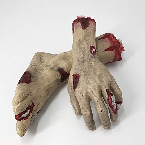 Halloween Requisiten Körperteile - spiderbat blutige Fuß- und Handdekoration, Halloween-Horror-Requisiten,