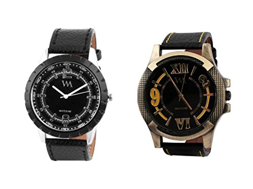 Watch Me Analog Black Dial Leather Strap Boys and Men's Watch WMAL-0061-BBK-0063-B