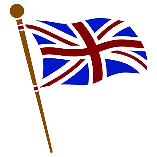 Union Jack Schablone - wiederverwendbare Schablone mit britischer Flagge - Verwendung auf Papierprojekten, Scrapbooks, Bullet-Tagebuch, Wänden, Böden, Stoff, Möbel, Glas, Holz usw. m - Britische Möbel