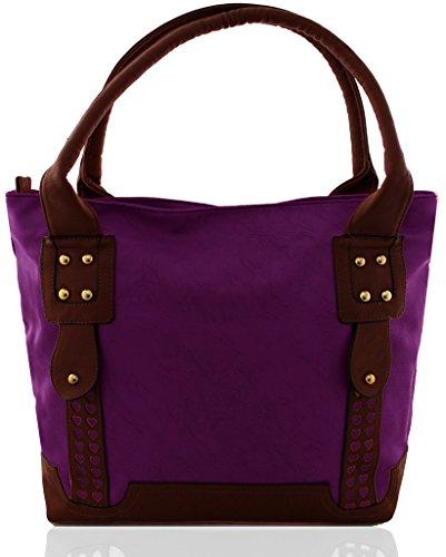 Kukubird piccolo cuore dettaglio borsa Purple
