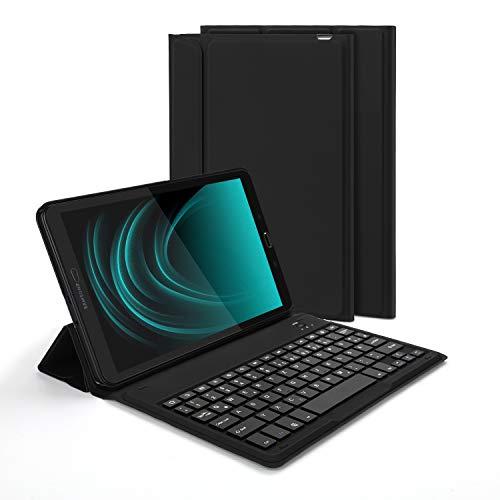 Jelly Comb Samsung Galaxy Tab A 10.1 Bluetooth Tastatur Hülle, QWERTZ Android Tablet Tastatur mit Ultraslim Schützhülle für Samsung Galaxy Tab A T580/T585 25,54cm (10,1 Zoll), Schwarz - Mit Android-tablets Tastatur