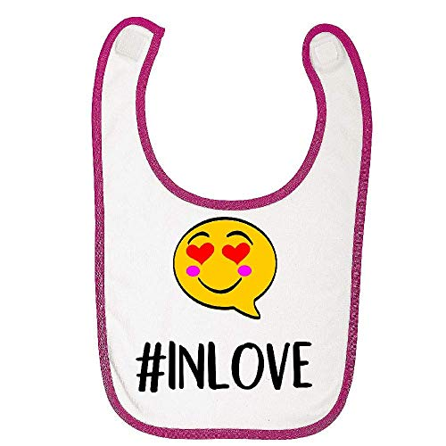 Bavoir bebe rose auto agripant hashtag in love