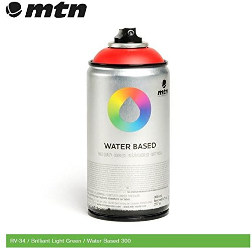 mtn-montana-colors-water-based-spray-paint-300ml-can-brilliant-light-green-rv-34-by-mtn