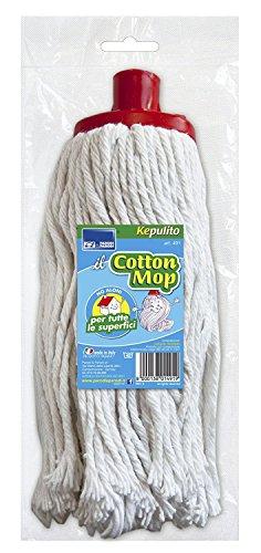 Parodi & Parodi Baumwolle Mop Mop, Baumwolle, weiß, 30x 15x 7cm