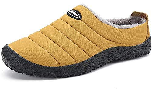 huhe Herren Damen Warme Plüsch Pantoffeln Gefüttert Winterschuhe Wasserdicht Pantoletten Haus Baumwolle Schuhe rutschfeste Outdoor Slipper Größe 35-48 ()