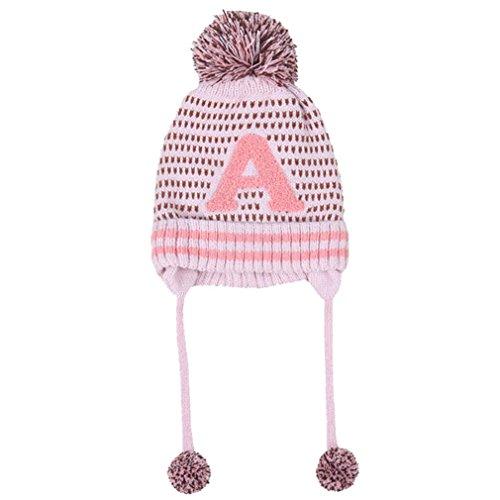 Bekleidung Hüte BURFLY ♥2017 Winter-nette Baby-Jungen-Mädchen-Buchstabe-Baumwollhut-Kind-Druck-strickende Hüte (Buchstabe Kostüme F)