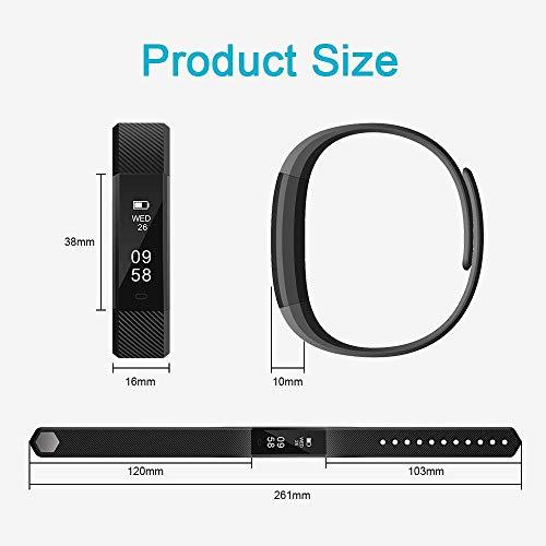 AIMIUVEI Pulsera Actividad Pulsera Inteligente Impermeable Reloj Inteligente Mujer y Hombre,Podómetro,Cronómetros,Despertador,Cámara Control,Compatible con iOS y Android