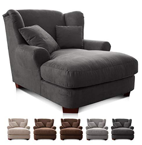 CAVADORE XXL-Sessel Oasis/Großer Polstersessel im Modernen Design/Inkl. 2 schöne Zierkissen / 120...
