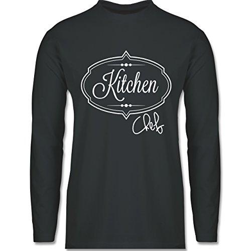 Küche - Kitchen Chef Küchenchef - Longsleeve / langärmeliges T-Shirt für Herren Anthrazit