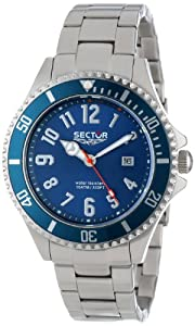 Reloj Sector R3253161035 de caballero de cuarzo con correa de acero inoxidable plateada de Sector Watches