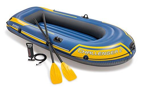 Intex Schlauchboot Challenger 2 Set Phthalates Free Inkl. Paddel und Luftpumpe, 68367np (4 Personen-aufblasbares Boot)