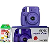 Fujifilm Instax Value Cam Mini 8 with 20 Films Shot (Grape)