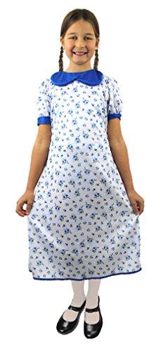 lfd7045X L Mädchen Evacuee Kleid (X-Large) (Blume Gilr Kleider)