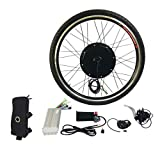 Petunia Kit di conversione Bici elettrica E da 1000 W 26'Mozzo della Bicicletta per Motore Anteriore 48V -Nero