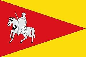 DIPLOMAT Flagge Agüero | Agüero-Huesca-Spain | Agüero; Paño de proporción 2/3, jironado al asta | Querformat Fahne | 0.06m² | 20x30cm für Flags Autofahnen