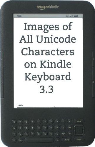 Images of All Unicode Characters on Kindle Keyboard 3.3 (English ...