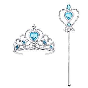 Vicloon 2 PCS Accessori per Vestire Principessa con Diadema,Bacchetta Magica per Ragazze di 3-10 Anni … 1 spesavip