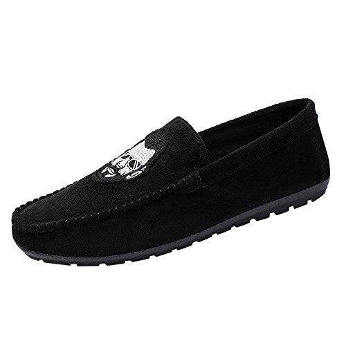 OVERMAL_Sneaker Herren Sommer Stil bärtige Männer lässig und bequem treibende Bean Schuhe Freizeitschuhe Bootsschuhe