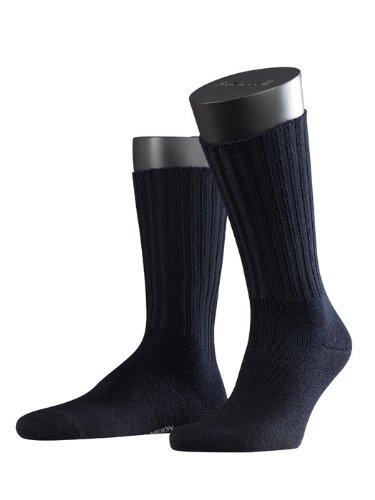 FALKE Herren Socken 14497 Nelson SO, Schurwoll-Mix,  1er Pack Gr. 47/50, Blau (dark navy 6 Preisvergleich