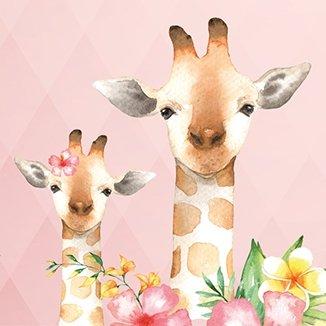 Anna Wand Bordüre Selbstklebend Jolly Jungle - Wandbordüre Kinderzimmer/Babyzimmer mit Tieren in Dschungeltieren in Mehrfarbig auf Rosa –...
