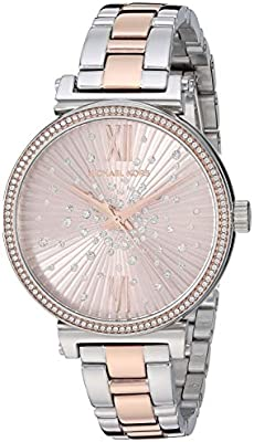 Michael Kors Reloj Analógico para Mujer de Cuarzo con Correa en Acero Inoxidable MK3972