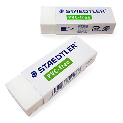 2x Staedtler Radiergummi–PVC/Latex frei–PREMIUM QUALITÄT–525B20