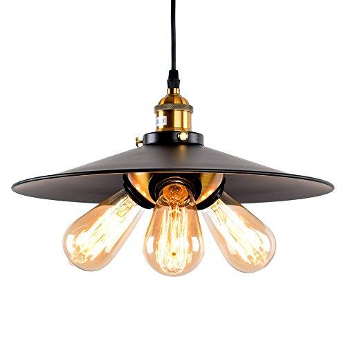 Lingkai retro colgante de luz Industrial estilo 3 luz Saucer sombra lámpara de techo colgante araña techo vintage