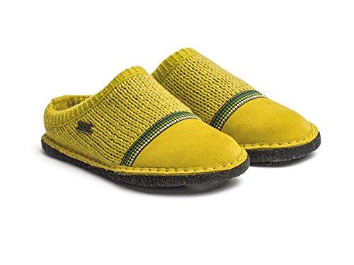 Haflinger 313054 Flair Seventies Pantofole donna uomo Verde