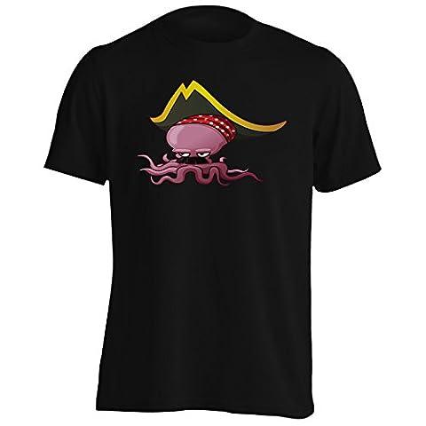 Nouvelle Conception De Pieuvre Pirate Hommes T-Shirt h526m