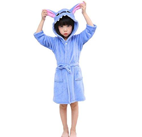 RGTOPONE Weicher Bademantel Für Kinder Einhorn Fleece Mit Kapuze Nachtwäsche Robe Luxuriöser Morgenmantel Warm Bequeme Nachtwäsche Süße Loungewear Hausmantel (5 Jahre, ()