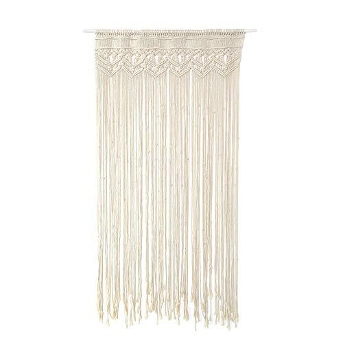 Ridecle® Macrame Wandbehang gewebt Tapisserie 90 * 180 cm Makramee Tür hängend, Raumteiler, Makramee Vorhänge, Fenstervorhang, Türvorhänge, Hochzeit Hintergrund Arch BOHO Wanddekor (Arch Tür)