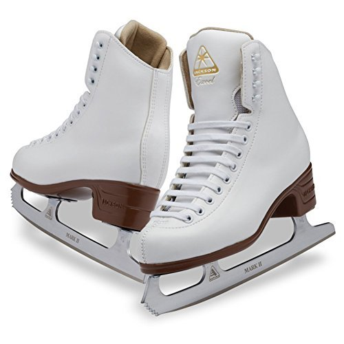(Youth C 3.5) - Jackson Ultima Excel Series JS1290 / JS1291 / JS1294 White, Women's and Girls Figure Ice Skates