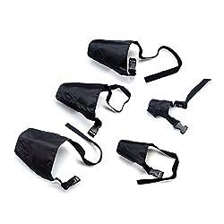 ewinever(TM Pack Of 5 Breathable Safety Small Medium Large Extra Dog Muzzle Muzzel Adjustable Black